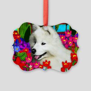samoyedpupp Picture Ornament