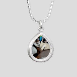 siamesecatsls copy Silver Teardrop Necklace