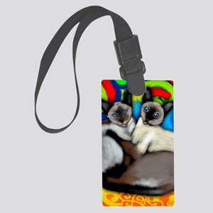 siamesecatsls copy Large Luggage Tag