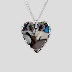siamesecatsls copy Necklace Heart Charm