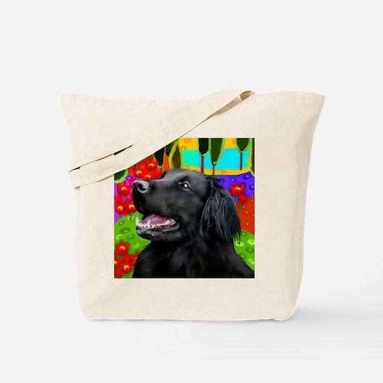 flatcoatedhead copy Tote Bag