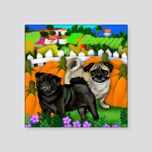 "pugpump3 copy Square Sticker 3"" x 3"""