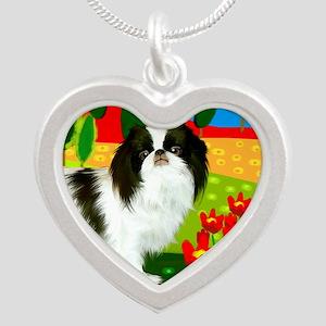 JCclock copy Silver Heart Necklace