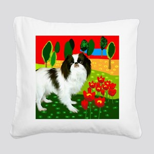 JCclock copy Square Canvas Pillow