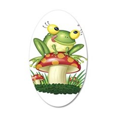 Frog Toad stool Wall Decal