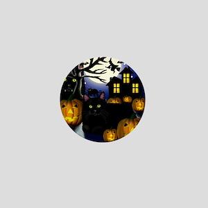 halloweencats copy Mini Button