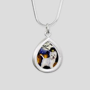 westiehalloween pcopy Silver Teardrop Necklace