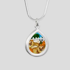 pomeranianpump copy Silver Teardrop Necklace
