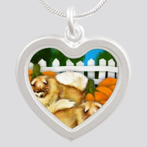 pomeranianpump copy Silver Heart Necklace