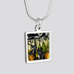 frbulldogcastlepump copy Silver Square Necklace