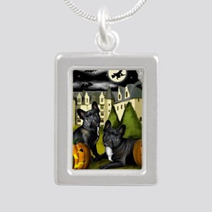 frbulldogcastlepump copy Silver Portrait Necklace