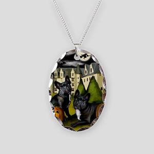 frbulldogcastlepump copy Necklace Oval Charm