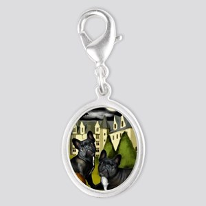 frbulldogcastlepump copy Silver Oval Charm