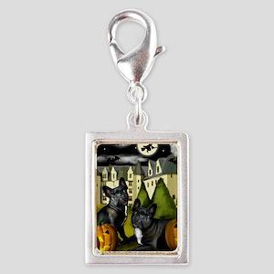frbulldogcastlepump copy Silver Portrait Charm
