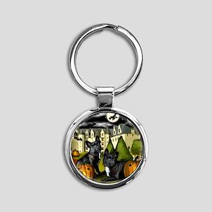frbulldogcastlepump copy Round Keychain