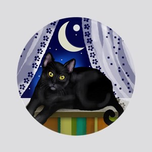 catwindow3 copy Round Ornament