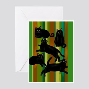 5blackcatsrlsc Greeting Card