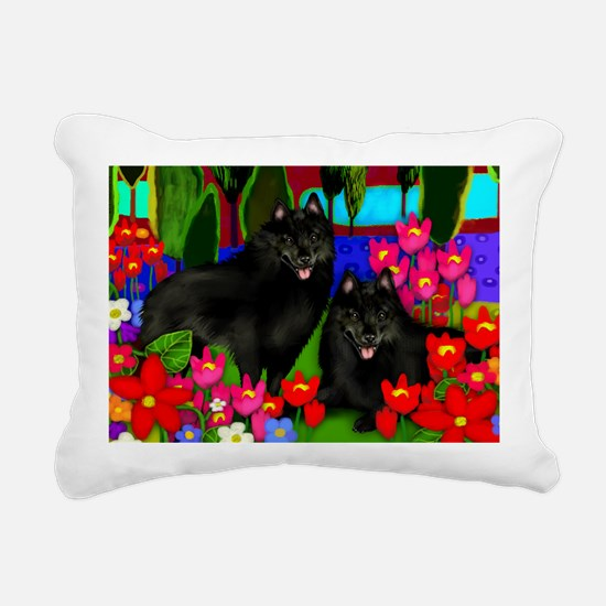schipperke2print copy Rectangular Canvas Pillow