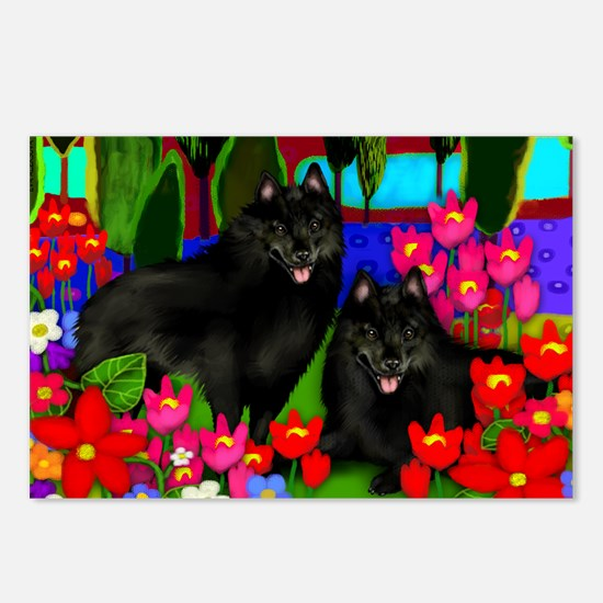 schipperke2print copy Postcards (Package of 8)