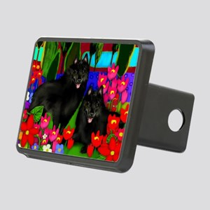 schipperke2print copy Rectangular Hitch Cover