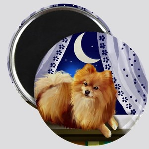 pomeranianwindowmoon copy Magnet
