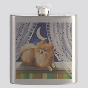 pomeranianwindowmoon copy Flask