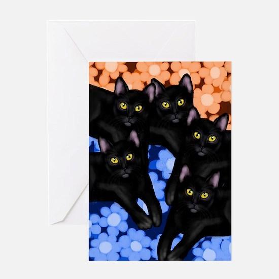 5blackcatslsc Greeting Card