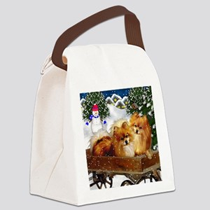 pomeranianvillagesn copy Canvas Lunch Bag
