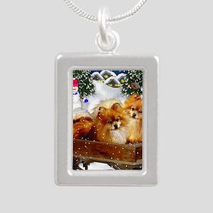 pomeranianvillagesn copy Silver Portrait Necklace