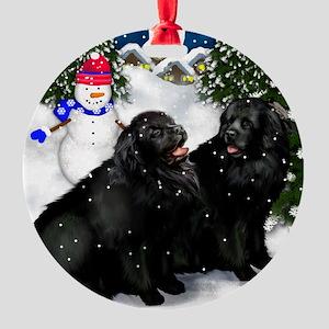 newfsvillage copy Round Ornament