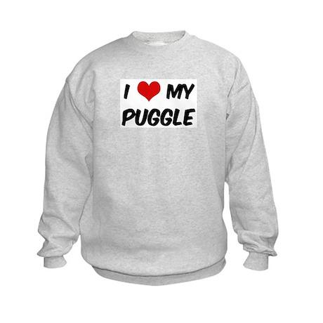 I Love: Puggle Kids Sweatshirt