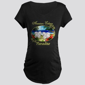 t-shirt150 black Maternity Dark T-Shirt