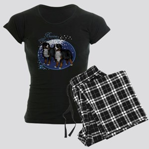 t-shirt153 black Women's Dark Pajamas