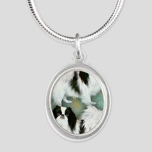 3JC copy Silver Oval Necklace