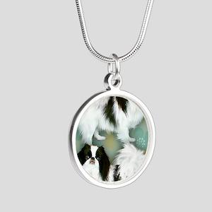 3JC copy Silver Round Necklace