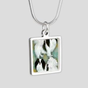 3JC copy Silver Square Necklace