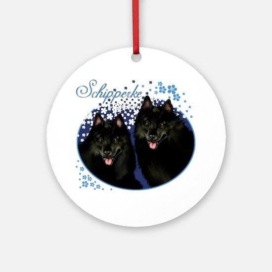 t-shirt154 black Round Ornament