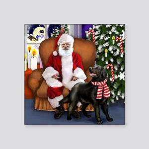 "santa clous flatcoat Square Sticker 3"" x 3"""