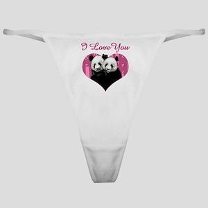 panda black Classic Thong