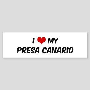 I Love: Presa Canario Bumper Sticker