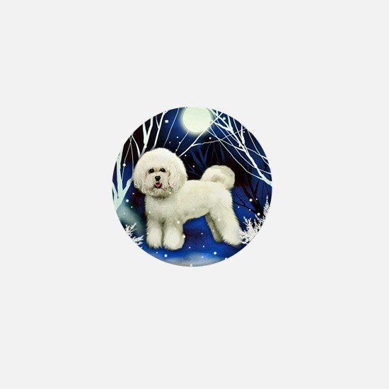 bichon frise snown copy Mini Button