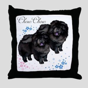 chowsflt copy Throw Pillow