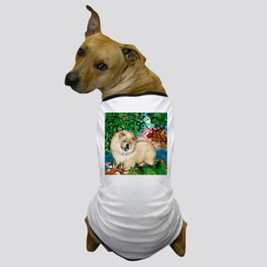 chowcream 4 copy Dog T-Shirt