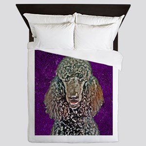 Painted Poodle Queen Duvet