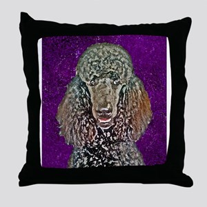 Painted Poodle Throw Pillow