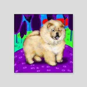 "chowcream 1 copy Square Sticker 3"" x 3"""