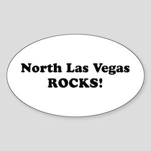 North Las Vegas Rocks! Oval Sticker