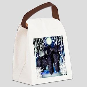poodlesnown copy Canvas Lunch Bag