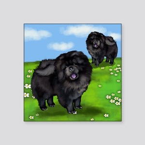 """chows bl parks Square Sticker 3"""" x 3"""""""