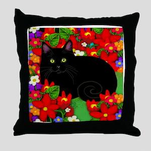catblgarden copy Throw Pillow